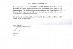 VPI Supplier Endorsement